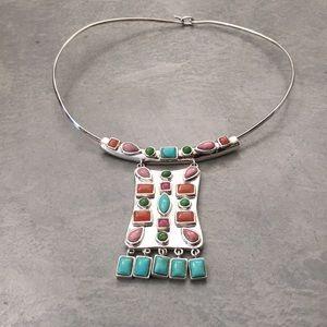 BARSE Vintage Silver Semi Precious Gem Necklace